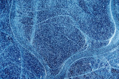 Blue frozen ice background  Royalty Free Stock Images