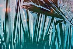 Blue Frozen Ice Layer - Macro Stock Photos