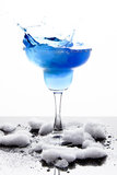 Blue Frozen Iceberg Margarita Splash Stock Photography