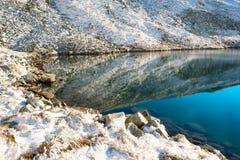 Blue frozen lake Stock Image