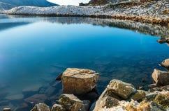 Blue frozen lake Stock Images