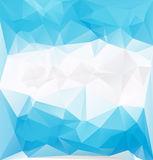 Blue frozen low polygonal vector Royalty Free Stock Photography