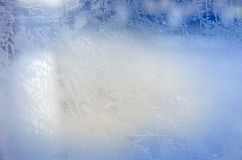 Blue frozen window texture. Blue frozen window   as texture Stock Photography