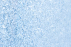 Blue frozen window christmas background Royalty Free Stock Photo