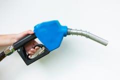 Blue fuel nozzle Stock Photography