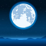 Blue full moon Stock Images