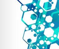 Blue funky geometrical background Stock Photos