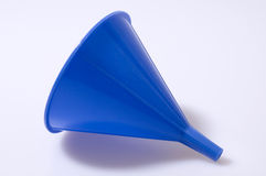 Blue Funnel. Isolated against white background with soft shadow Royalty Free Stock Photography