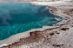 Blue Funnel Spring. West Thumb Basin, Yellowstone National Park Royalty Free Stock Image