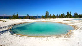 Blue Funnel Spring Yellowstone Stock Photos
