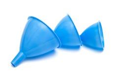 Blue funnels Stock Photo