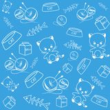 Blue funny background Stock Images