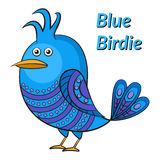 Blue Funny Bird Stock Images