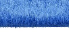 Blue fur Stock Image