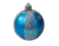 Blue fur-tree sphere Stock Photography