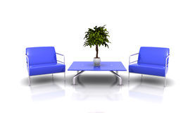 Blue furniture Royalty Free Stock Images