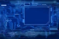 Blue Future Interface Royalty Free Stock Photo