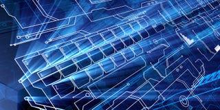 Blue Future Keyboard Royalty Free Stock Photography