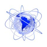 Blue Future South America Globe 3d Royalty Free Stock Photos