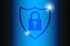 Blue Future Technology Internet Security Background Stock Photo