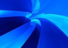 Blue future technology tunnel Stock Image