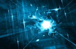 Blue Futuristic Background Stock Image