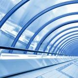 Blue futuristic corridor Stock Photos