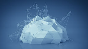 Blue futuristic network shape. Abstract 3d render Stock Images