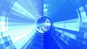 Blue futuristic tunnel stock video