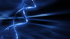 Blue FX Background with rotating DNA string,seamless loop, stock footage. Video stock illustration