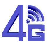 Blue 4G symbol on white background Stock Image