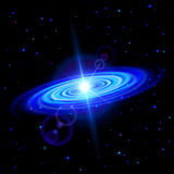 Blue galaxy Royalty Free Stock Image