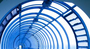 Blue gallery Royalty Free Stock Image