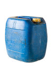 Blue gallon. On white isolate background stock photos