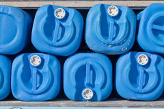 Blue gallons Stock Photography