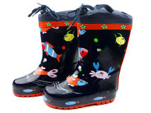 Blue Galoshes Royalty Free Stock Photo