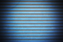 Blue galvanized iron door background Royalty Free Stock Photography