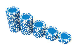 Blue gambling Royalty Free Stock Images