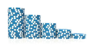 Blue gambling Royalty Free Stock Image