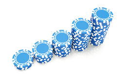 Blue gambling Royalty Free Stock Photo