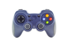 Blue game controller. Isolated on a white background Stock Image