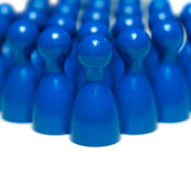 Blue game pieces Stock Images