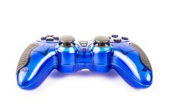 Blue gamepad on white background. Blue gamepad without perforated on white background isolate Royalty Free Stock Photos