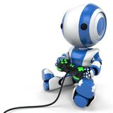 Blue Gaming Robot Stock Images