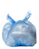 Blue garbage ba Stock Image