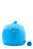 Blue garbage bag Stock Image