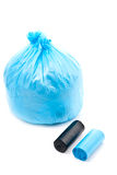 Blue garbage bag Royalty Free Stock Photos