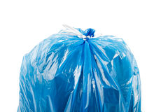 Blue garbage bag Royalty Free Stock Photography
