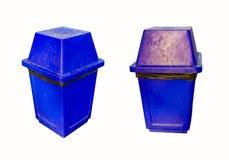 Blue  garbage bin Stock Image