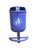 Blue garbage container Royalty Free Stock Photography